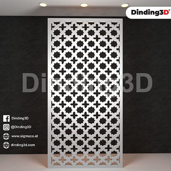 Partisi Dinding Grille Panel SGR 003D