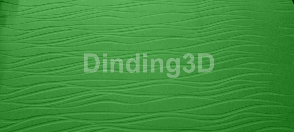 Dinding3D SMC-027 wave panel 3D bukan wallpaper jual jasa laser cutting murah